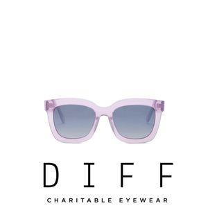 DIFF Eyewear Carson Square 55mm Acetate Sunglasses